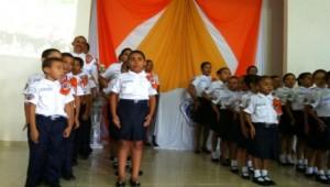 Clube de Aventureiros na igreja de Mangabeiras.