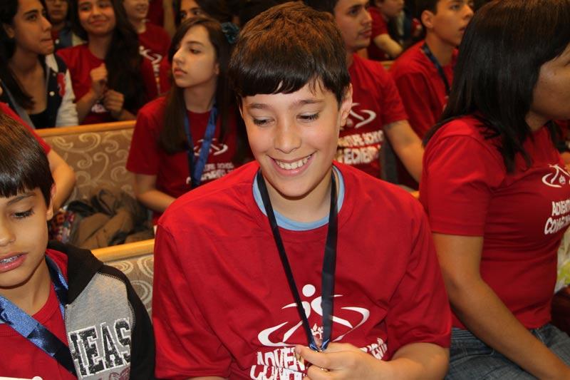 Lucas ganhou medalha de ouro em matemática