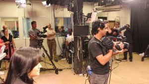Uma equipe com mais de 40 profissionais trabalhou no evento.