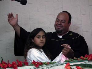 O momento do batismo é muito especial pois marca uma escolha para a vida toda