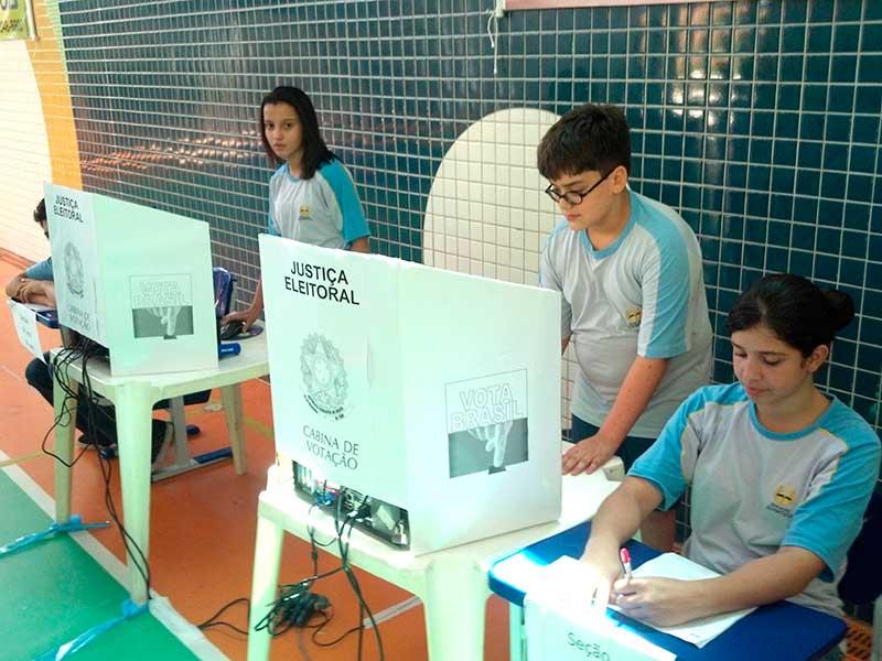 Momento da simulação da votação
