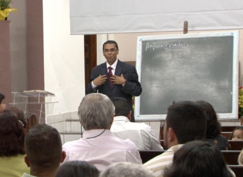 Pastor Antônio Gonçalves na Igreja Central de Itanhaém