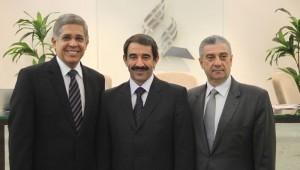 Pastores Emmanuel, Domingos (presidente) e Elnio (tesoureiro)