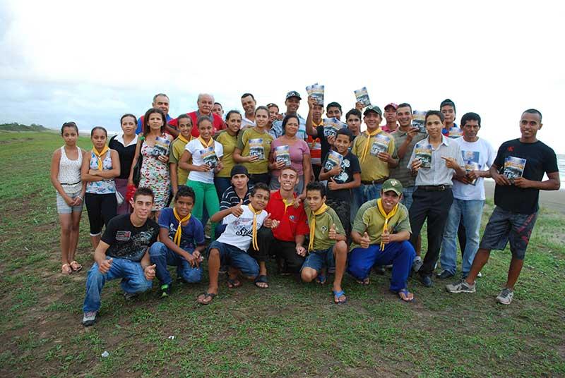 Parte do grupo que realizou o trabalho no dia 19 de janeiro