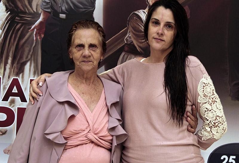 Márcia e sua mãe Dona Néia