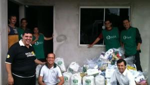 O material teve o auxílio na entrega dos integrantes do Pequeno Grupo de Pastores da Associação Catarinense