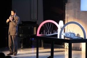 Ilustração com arcos acesos de ponte mostrou necessidade de integração plena entre comunhão, relacionamento e missão