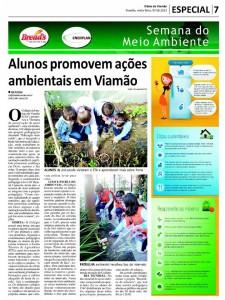 Nesta sexta-feira, dia 7 de junho o jornal Diário de Viamão dá grande destaque ao projeto pedagógico do Colégio Adventista Local