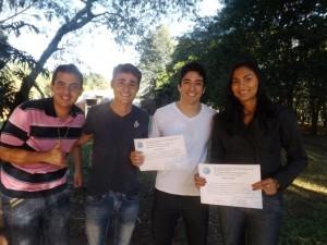 O curso de Educação Física do campus Hortolândia foi representado por seis alunos e pelo professor Riller Reverdito.