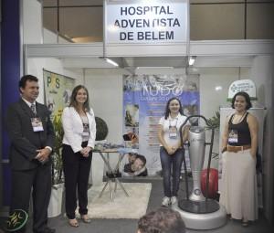 Stand do Hospital mostrou o diferencial da instituição - o Programa Vida Saudável (PVS).