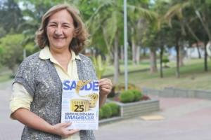 Odete Santelle participou da matéria de capa na edição de agosto da revista Saúde é Vital.