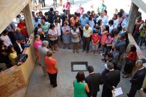 Momento de oração pela construção do complexo educacional