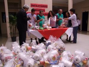 Somente na região do Guará (DF) 40 cestas básicas foram montadas