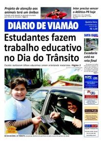 O panfleto distribuído destacou a valorização da família e a importância do respeito no trânsito.