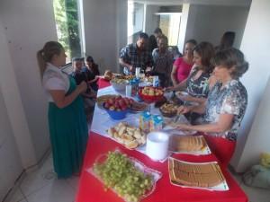 Café da manhã para a comemoração dos 160 anos na IASD de Planalto, em Muriaé, Minas Gerais.