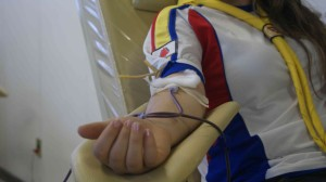 A doação de sangue dura, aproximadamente, 12 minutos.