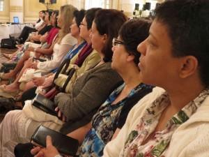 As 350 mulheres assistiram palestras sobre sexualidade e mosdétia cristã.