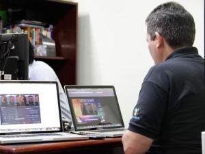 Houve interação com os internautas durante o treinamento