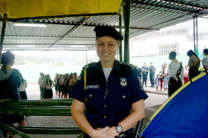 Supervisora de capacitação da Guarda e coordenadora do projeto, Fernanda Alves.