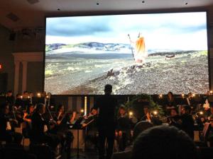 Trilha sonora foi tocada ao vivo pela orquestra
