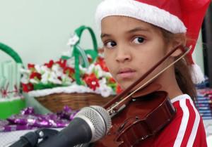 A festa contou também com apresentação musical das crianças do núcleo