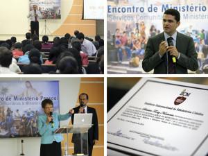 Pastores Edimilson Lima e Everon Donato, além de May-Ellen, falaram aos participantes que receberam um certificado ao final do evento