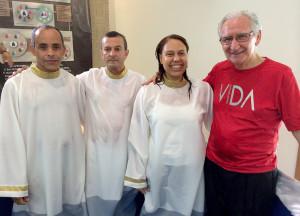 O batismo mostrou um pouco do resultado do trabalho realizado pelos centuriões.