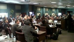 Líderes reunidos na comissão nos EUA