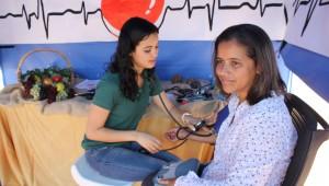 A tenda de aferição da pressão arterial foi uma das mais procuradas.