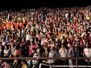 As arenas eram lotadas nos momentos de culto e adoração a Deus