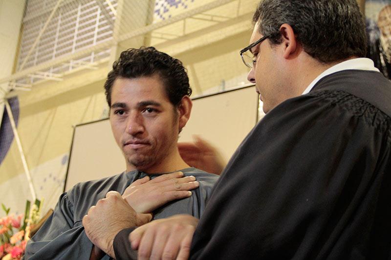 Momento dos batismos com o pr.Cassio