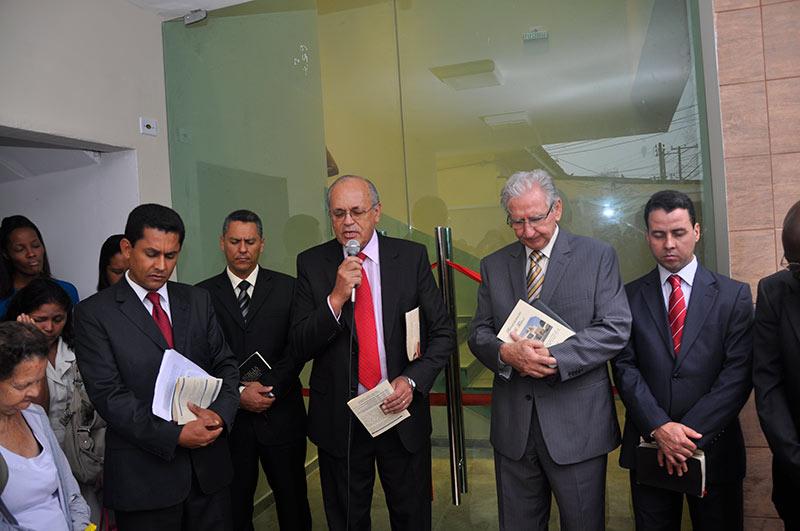 Oração especial de dedicação do prédio em Cubatão
