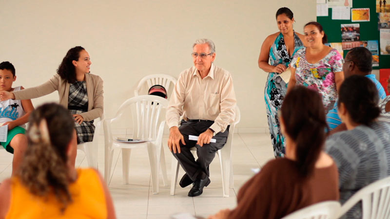 Pastor Sidionil fala no projeto na igreja do Jd. Arpoardor II