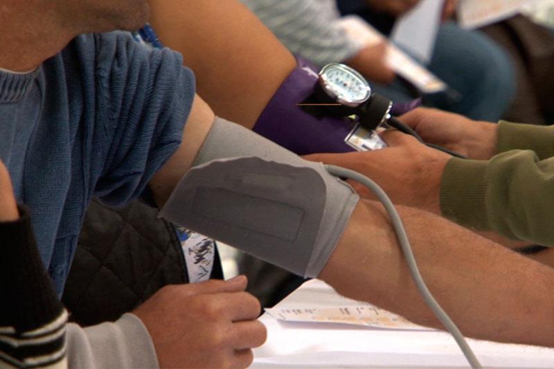 Participantes cuidando da saúde