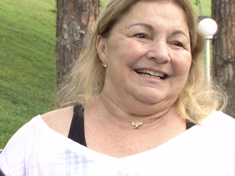 Joana D'arc Ribeiro, dona do hotel e estudante da Bíblia