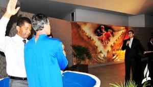 Mais de 200 batismos aconteceram durante a Caravana.