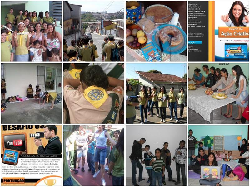 Fotos do desafio desbravando saúde
