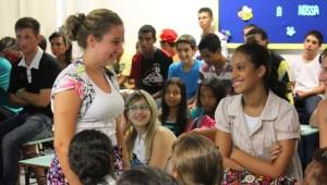 Adolescentes tiveram oportunidade de dialogar com líderes
