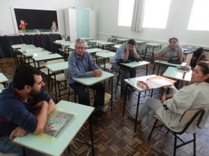 A aula magna aconteceu no último domingo, com dez estudantes, e teve choro logo no primeiro dia
