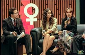 Na abertura da programação, Darleide apresentou as diferenças entre homens e mulheres.