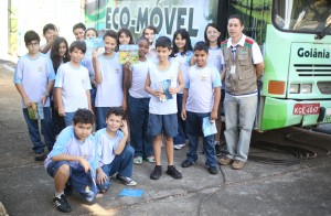 O EcoMóvel instruiu os alunos do Colégio Adventista do Setor Pedro Ludovico (CASPL).