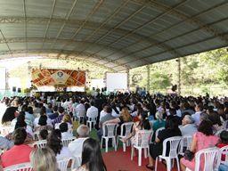 Durante a festa foi apresentado o projeto de construção de uma igreja nas dependências do colégio, com arquitetura moderna e ampla.