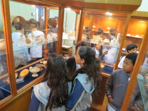 O contato com objetos históricos impressionou o grupo de alunos do Clube de Ciências