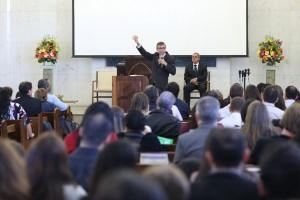 O pastor Marcos Bomfim foi um dos convidados para a Semana de Oração na Igreja do Guará.