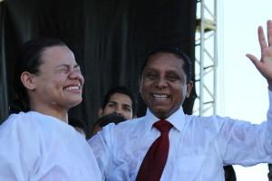 Emoção com as decisões marcou programa evangelístico no sudoeste da Bahia