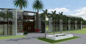 Prédio principal do futuro complexo educacional em Macaé