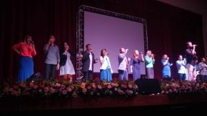 Grupo Nova Voz marcou presença no local.