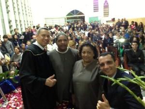 Batizandos em Rio Pequeno