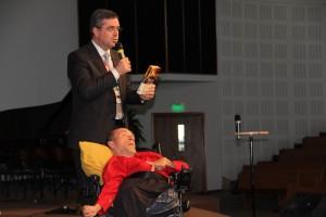 Pr. Erton apresentou a história do argentino como exemplo para a liderança
