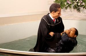 Batismo da jovem Keila